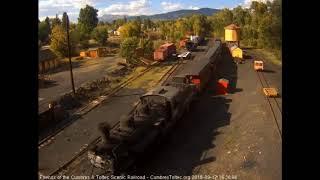 9/17/2018 An 8 car train 215 arrives in Chama, NM