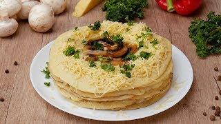Блинный торт с грибами - Рецепты от Со Вкусом