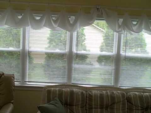 curtains in sun room