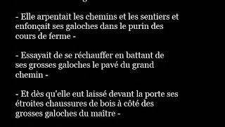 GALOCHES french word pronunciation in sentence