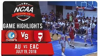 NCAA 94 MB: AU vs. EAC | Game Highlights | July 19, 2018