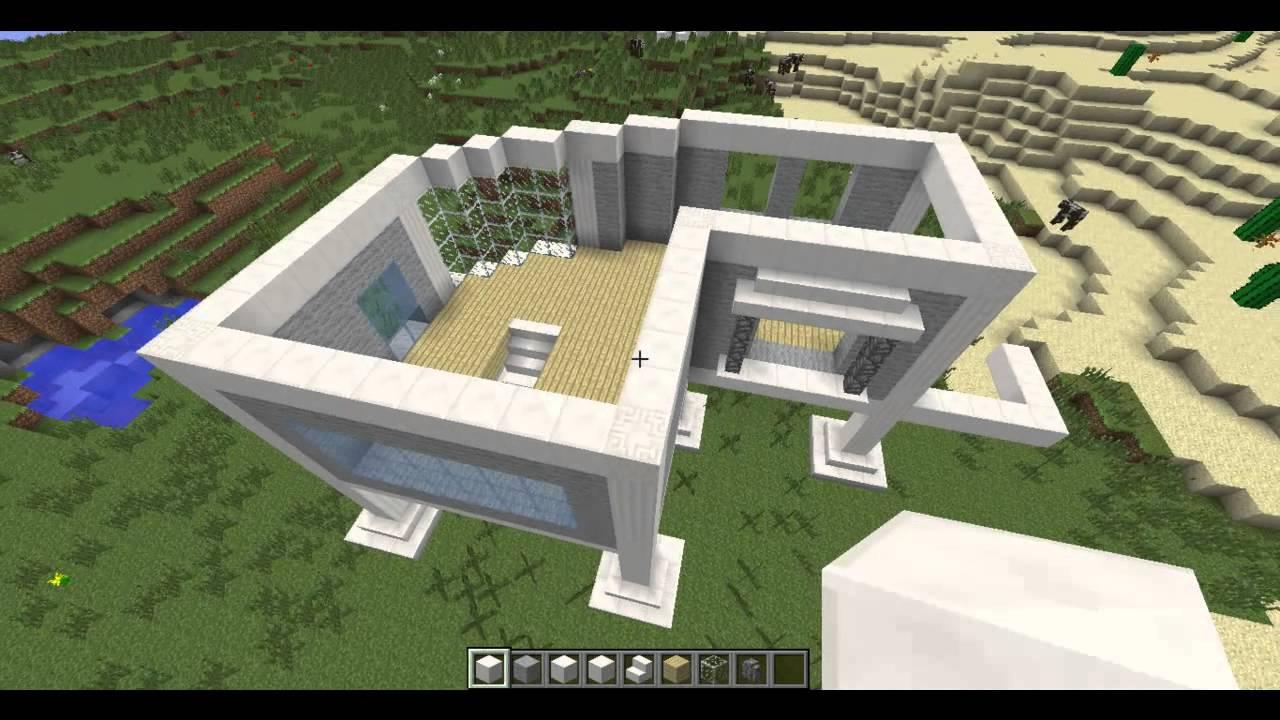 CONSTRUCTION MINECRAFT | maison moderne - YouTube