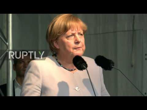 Germany: 'Merkel must go' protesters rally at CDU event in Berlin