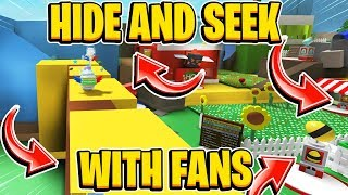 This Fans Hiding Spot Was INSANE in Hide and Seek In Roblox Bee Swarm Simulator