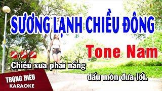 Karaoke Sương Lạnh Chiều Đông Tone Nam Nhạc Sống | Trọng Hiếu
