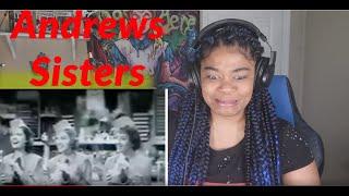 Andrews Sisters -  Boogie Woogie Bugle Boy REACTION