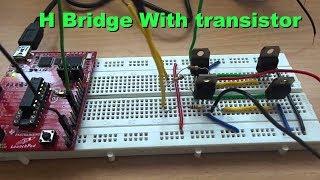 Tishitu H Bridge Motor Driving Circuit By Bjt Npn & Pnp Transistor In Proteus Simulator