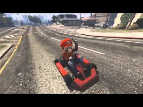 Mario Kart and Grand Theft Auto make beautiful PC mod partners