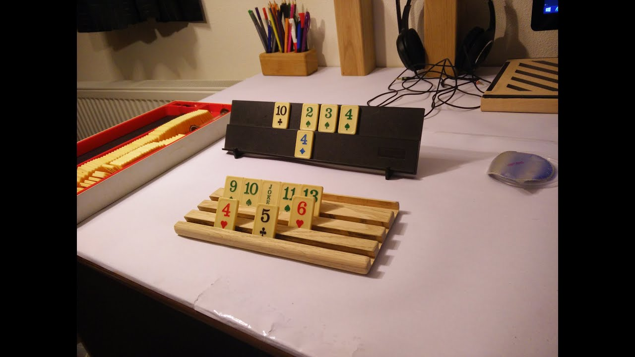 #04 Rummikub / domino stones holder - YouTube