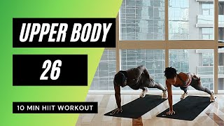 No.45 | Upper Body HIIT Workout with Beginner Modifications - Home Workout