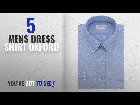 Top 10 Mens Dress Shirt Oxford [ Winter 2018 ]: Van Heusen Men's Long-Sleeve Oxford Dress Shirt,