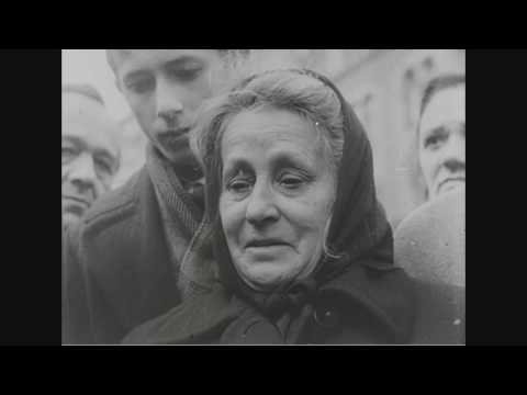 Selected newsreel scenes on the Hungarian revolt, Budapest, Hungary