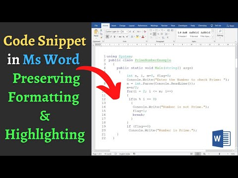 How To Easily Insert Code Snippet Into Word Preserving Format, Syntax Highlighting & Line Numbers