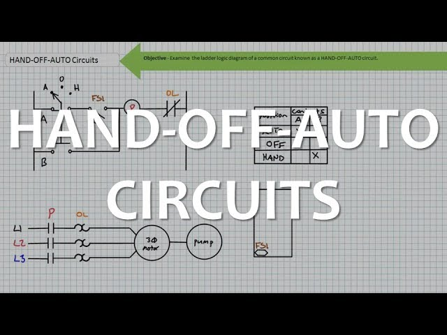 HAND-OFF-AUTO Circuits (Full Lecture) - YouTube | Hoa Switch Wiring Diagram 3 Phase Motor Control |  | YouTube
