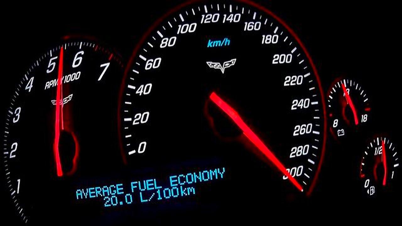 Corvette Acceleration 0-100 0-200 Top Speed Test - YouTube