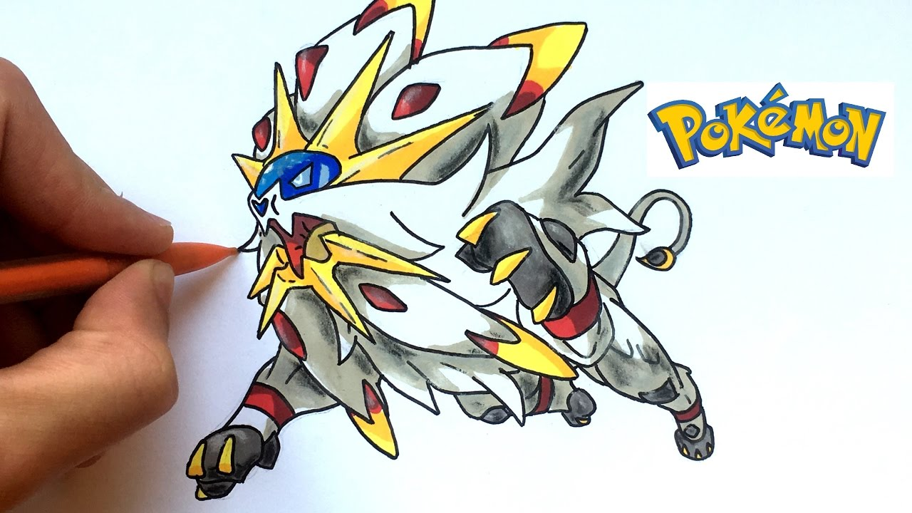 How To Draw Solgaleo Pokémon
