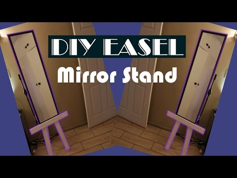 Easy To Make Mirror Stand Out Of Pallet Wood (DIY Easel)