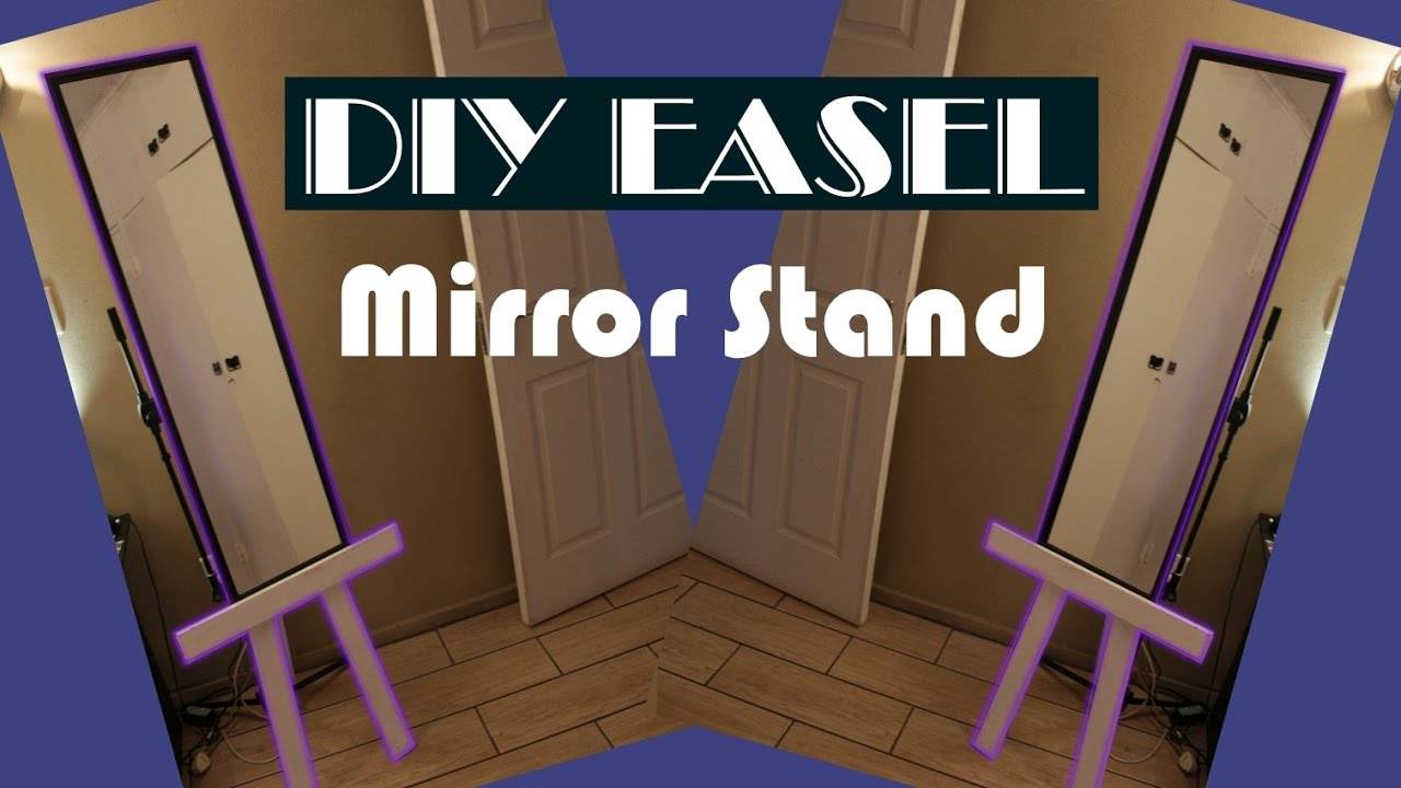 Easy To Make Mirror Stand Out Of Pallet Wood (DIY Easel) - YouTube
