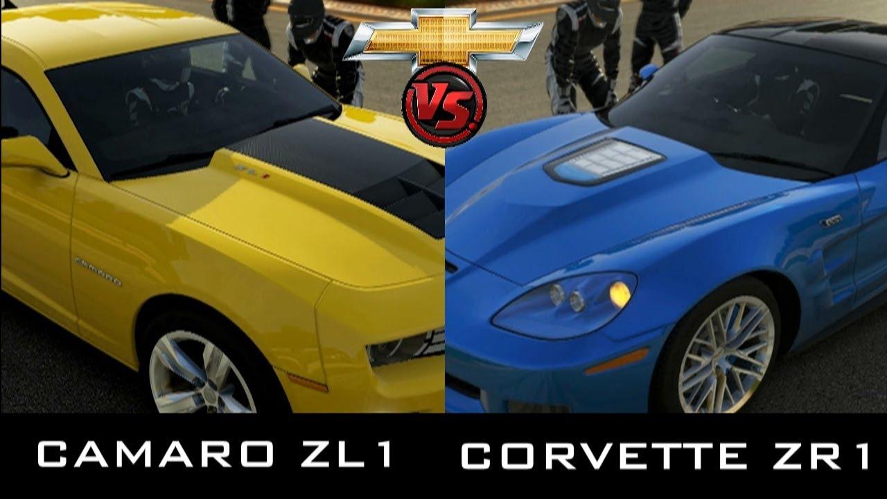 Forza 5 Chevrolet Camaro Zl1 Vs Corvette Zr1 Youtube
