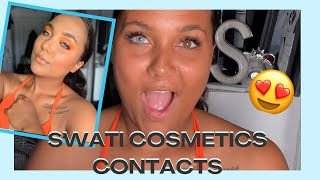 SWATI COSMETICS CONTACT LENSES REVIEW   Brown Eye Friendly Colored Contacts