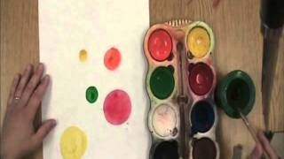 Kindergarten's First Painting Project The Dot Painting Project