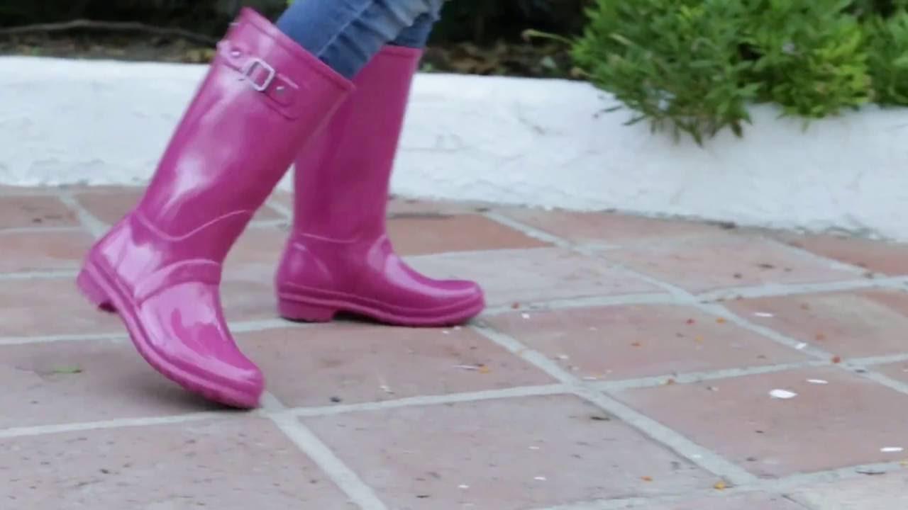 mejores zapatillas de deporte fb39f f328e Botas de Agua para Niña efecto Glitter - Bota lluvia con brillos en  Pisamonas