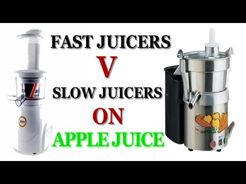 Slow v Fast Centrifugal Juicers on Apple Juice