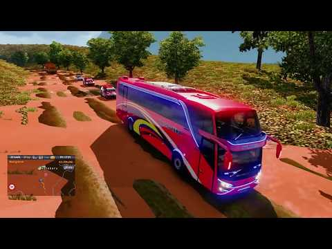 Petualang Bus Halmahera SHD High Deck Masuk Jalur Sulawesi - Euro Truck Simulator 2
