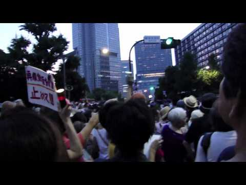 Overwhelming Anti-Nuclear Protest in Tokyo Independent Reporter Embedded in Protest July 29th 2012