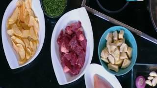 لقمة هنية : طريقة عمل صدور الدجاج بالمستردة والجبنة- كفتة بالبطاطس وصوص الريحان- شوربة خرشوف بالفراخ