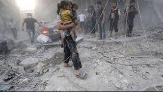 شاهد.. طائرات روسيا والنظام تتناوب على قصف مدينة إدلب