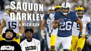 Saquon Barkley With The CIRCUS CATCH!  161 YDS & 3 TDs   Penn State vs Michigan 2017 REACTION ᴴᴰ