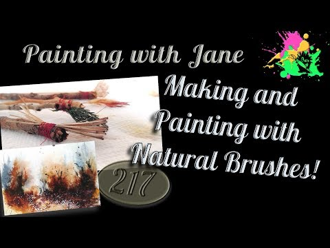 How to MAKE and Paint with Natural Brushes and a Quick Watercolor Tutorial at Stanley Hotel Room 217