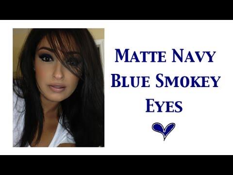 Matte Navy Blue Smokey Eyes