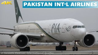 Up Close Pakistan Int'l Airlines 777-240(LR) | AP-BGY | Departure | (Toronto Pearson) 3/18/2020
