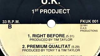 1ST PROJECT - RIGHT BEFORE (1991)