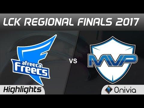 AFS vs MVP Highlights Game 5 LCK SUMMER 2017 REGIONAL FINALS Afreeca Freecs vs MVP by Onivia