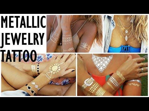 How to Use Metallic Jewelry Tattoo (Flash Tattoo) ∞