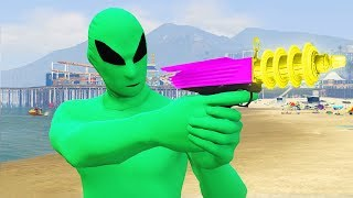 Aliens Troll Me! I Got The Ray Gun.. (GTA 5)