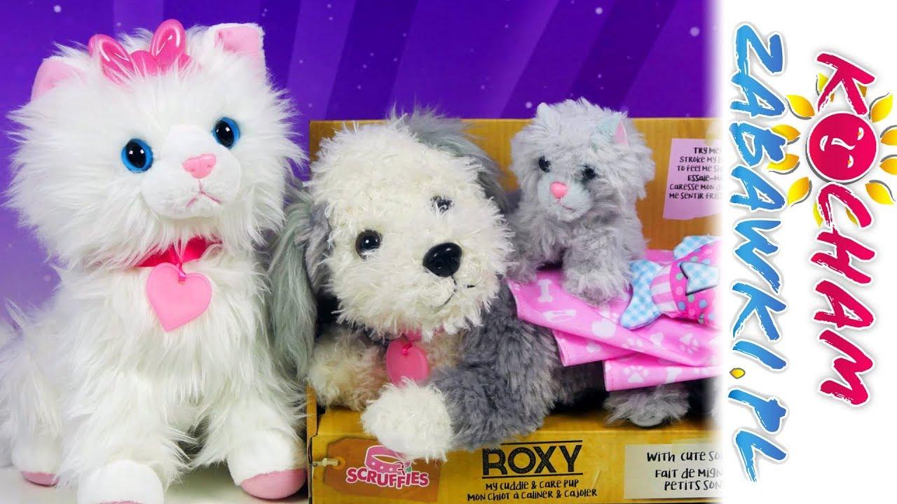 Scruffies • Interaktywne kotki Iskierka i Chloe & pieski Roxy i Toby • Cobi • Unboxing