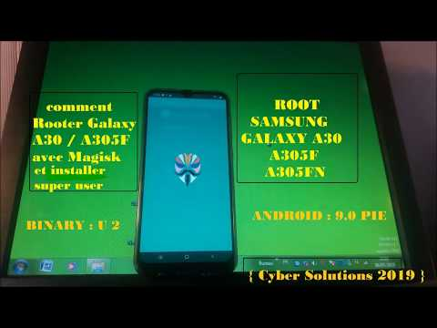 Patch boot img for Rooting Galaxy A30 SM-A305F with Magisk Canary