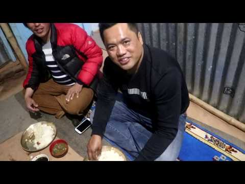 Local chicken cooking in rural village style in Nepal-Traditional cooking method