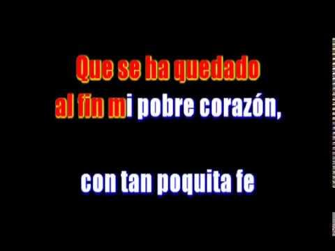 Poquita Fe - Los Panchos - Karaoke