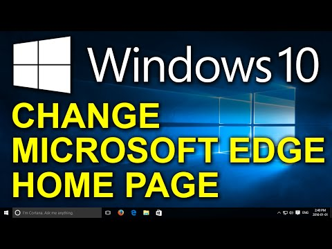 Windows 10 setting your home page in edge doovi for Windows home page