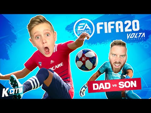 Dad Vs Son In FIFA 20 VOLTA MODE! K-CITY GAMING