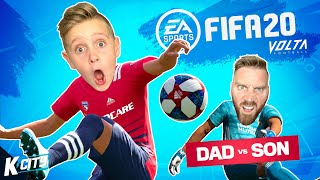 Dad vs Son in FIFA 20 VOLTA MODE! K-CITY GAMING