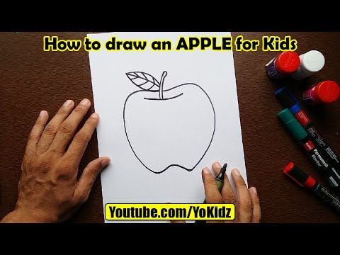 how-to-draw-an-apple-for-kids
