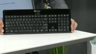 GeneralKeys Ultraschlanke Solar-Funk-Tastatur 2,4 GHz