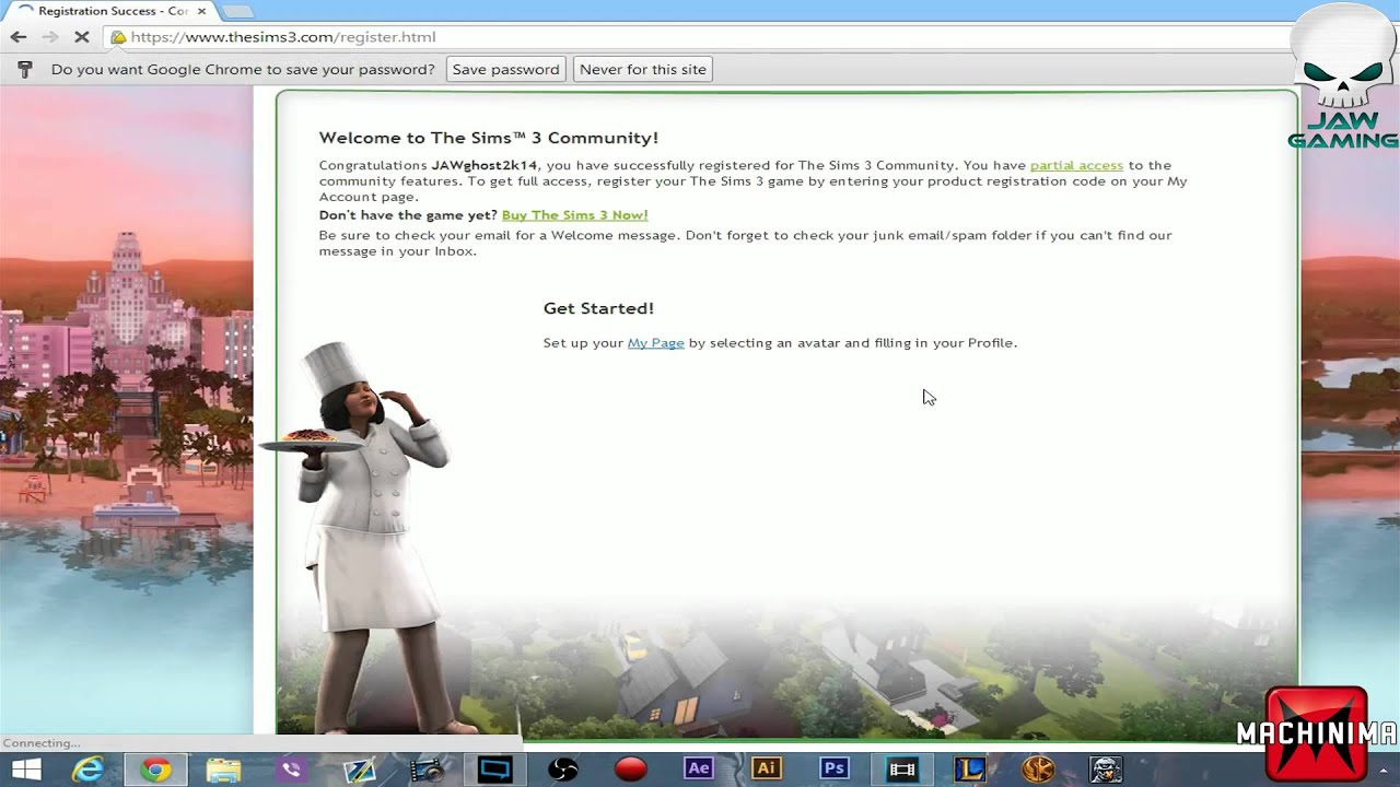Sims 3 Free Account Tut