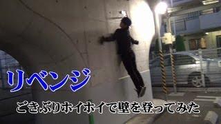 【リベンジ】 ごきぶりホイホイスーツで壁を登ってみた thumbnail